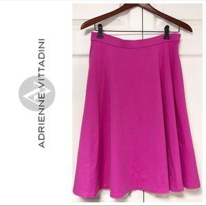 Adrienne Vittadini Hot Pink Pocket Skirt Elastic